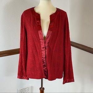 Briggs New York lace overlay cardigan size XL